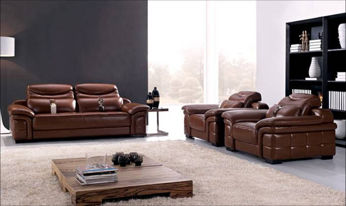 Sofa free shipping Large Size 2013 new genuine Leather modern sectional sofa set, 1+2+3 Chair Love Seat & sofa set L9027-2(China (Mainland))