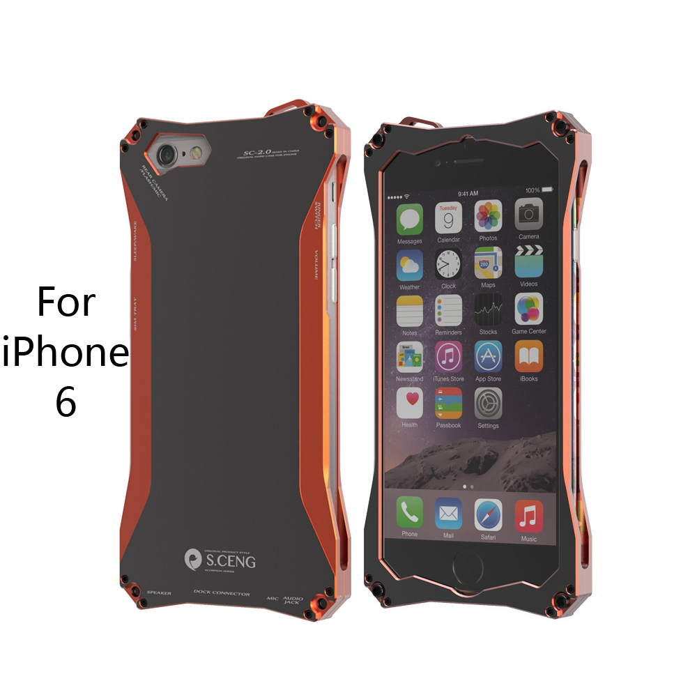 2016 The Latest Aluminum Alloy Metal Phone Case for iPhone 6 Case Protector Shell Cover Support Shockproof for Mobile Phone(China (Mainland))