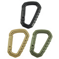 Hot! Men Outdoor <font><b>Camping</b></font> Tactical Carabiner Backpack Hooks Olecranon Molle Hook Survival Gear EDC Military Nylon Keychain Clasp