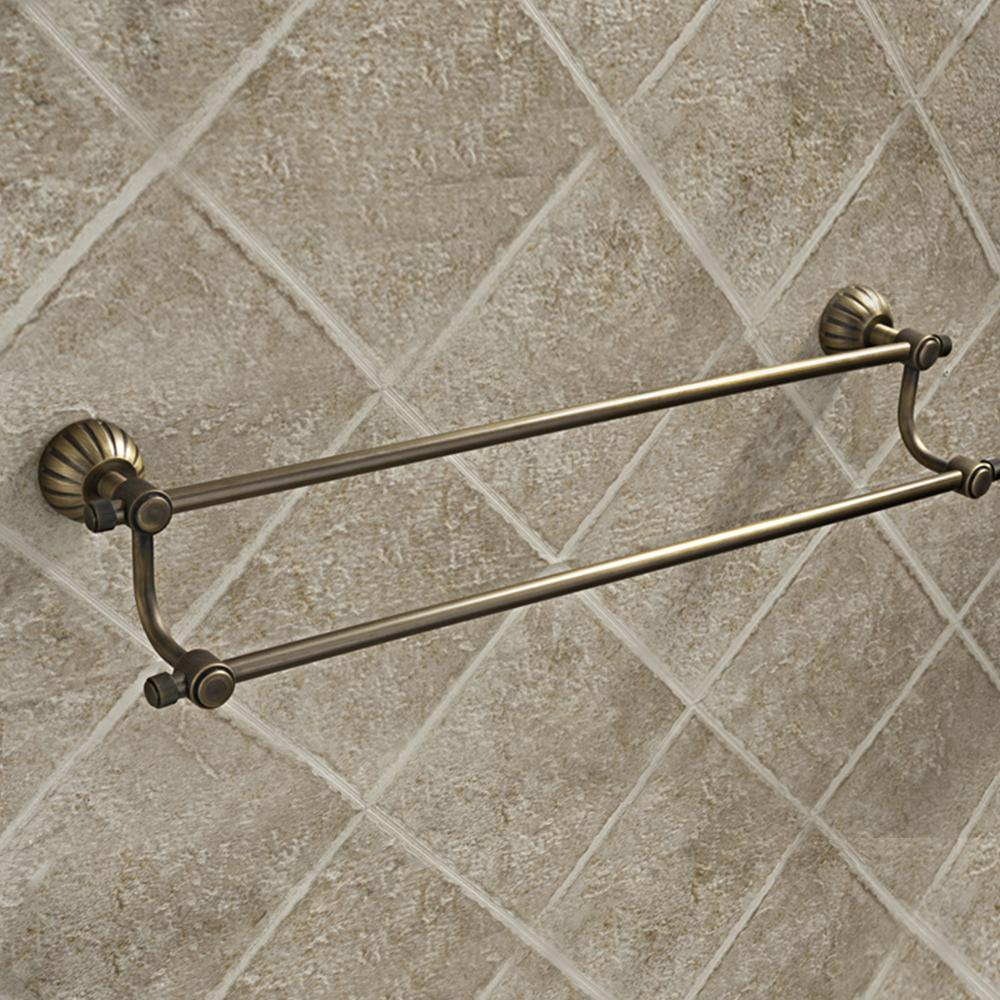 Brass Double Towel Bar Naples Oil Rubbed Bronze 24 Inch Antique Double Towel Bars Bathroom