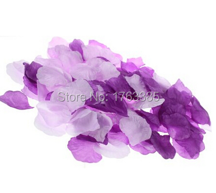 600PCS Mixed Purple Lavender Silk Rose Petals Wedding Centerpieces Party Decoration Bridal Shower Party Favor(China (Mainland))