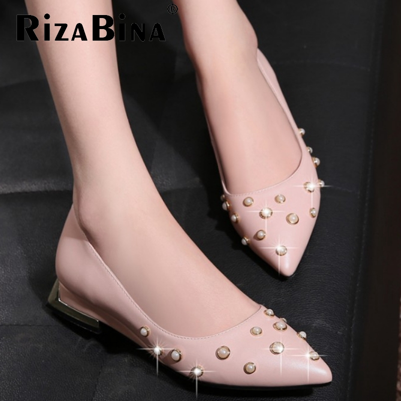 women real genuine leather party casual flats leisure shoes sexy fashion brand ladies shoes Zapatos Mujer size 33-40 R5805<br><br>Aliexpress