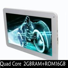 Quad core Android  Tablets pc 2GB 16GB Mini USB 1024*600 LCD 10″GPS Bluetooth FM 2 SIM Card Phone Call Smart Tab Mini iniPad pc