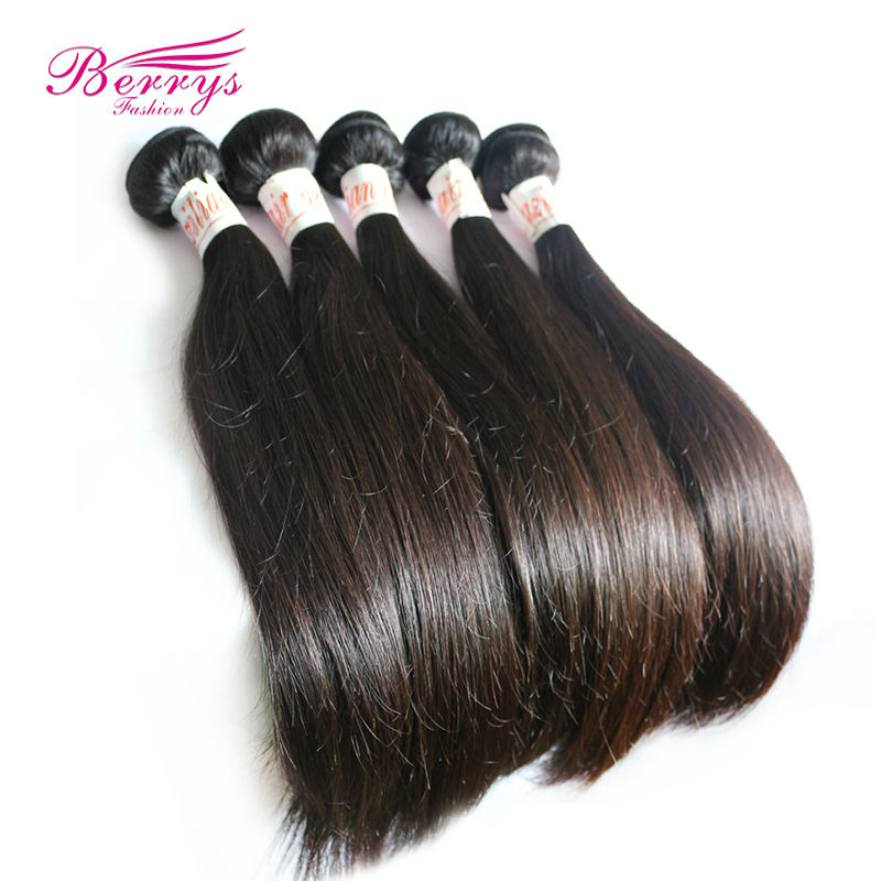 Berrys Fashion Hair, 3pcs/lot 8A Chinese Virgin Hair Silky Straight Bundles , Mixed Length 10''-34'' Best Quality Human Hair(China (Mainland))