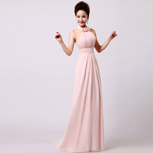 women light pink dress elegant robe de soiree long female evening gowns dresses real images new fashion 2016 free shipping S1217(China (Mainland))