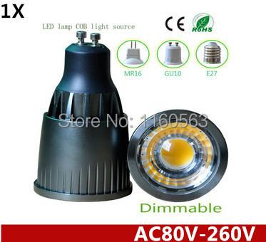 1X New Arrival AC85V-260V Dimmable 5W 7W 9W COB GU10 Led Downlight Bulb Lamp Warm/Cool White CE/RoHS Led Lighting Spotlight(China (Mainland))