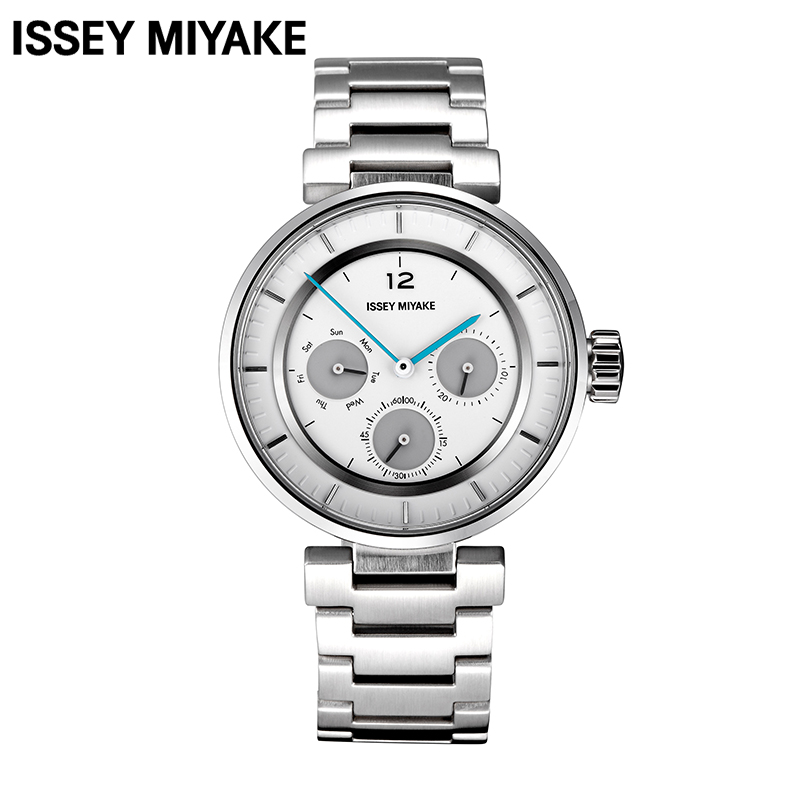 Issey Miyake Fashion and Casual Luxury Brand 3 Circles Dial Leather or Stainless Steel Strap Quartz Watch for Men SILAAB<br><br>Aliexpress