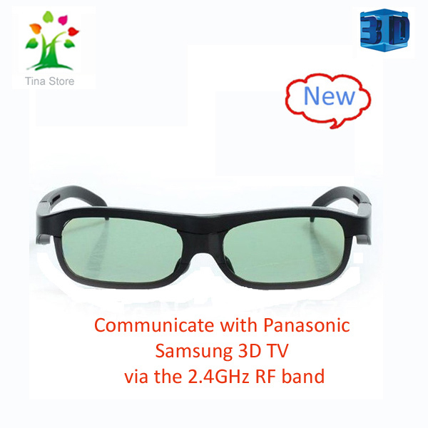 Free Shipping wholesale 2pcs/lot Active Shutter  Bluetooth 3D Glasses  For Sumsang,Panasonic 3D TV