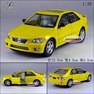 NEW 2015 New Lexus IS 300 1:36 Alloy Diecast Model Car Yellow Toy Collecion B224a(China (Mainland))