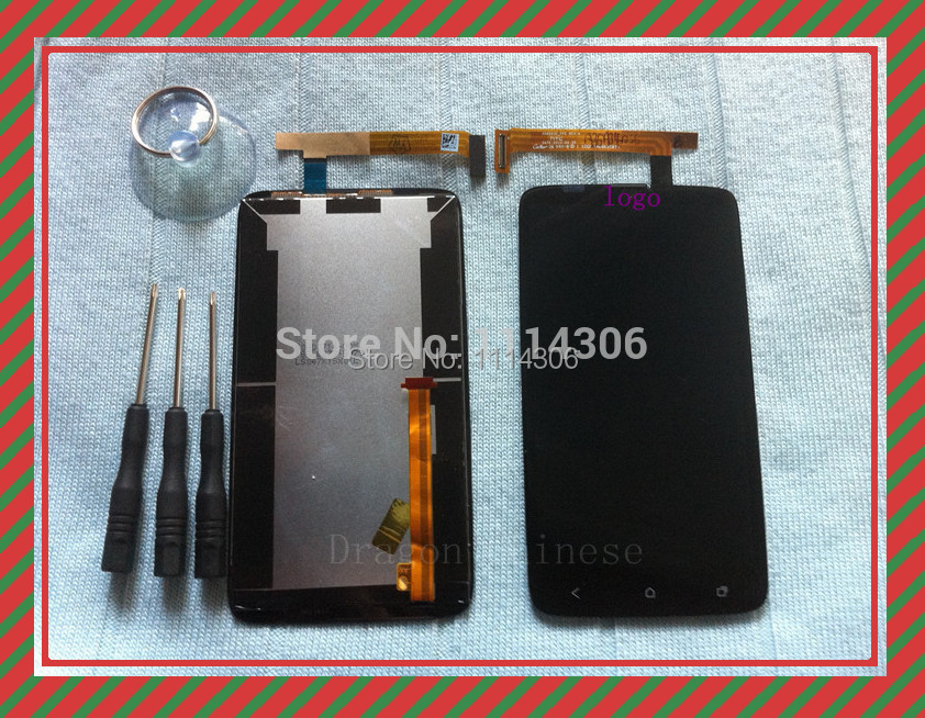100% Compatible Free Shipping Replacement LCD Display + Digitizer Touch Screen Assembly For HTC One X S720e(China (Mainland))