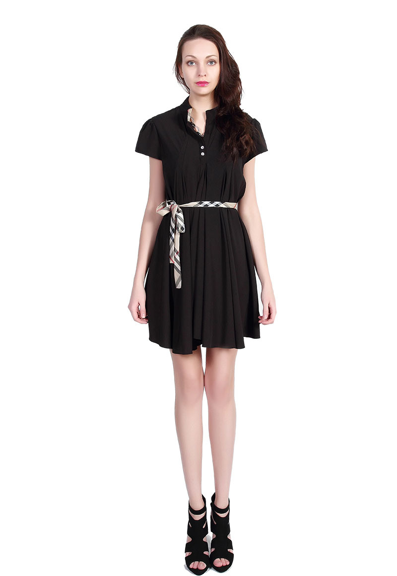Name Brand London Newest Style Women Dresses Girls Casual Clothing Summer Black Bodycon Dresses Plus Size Female Clothes 8098-B(China (Mainland))
