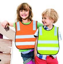 Hot Fashion Polyester Fabric Safety Vest  Kids Reflective Safety Vest Student Hi Viz Safety Vest Size Reflective Work Cloth()