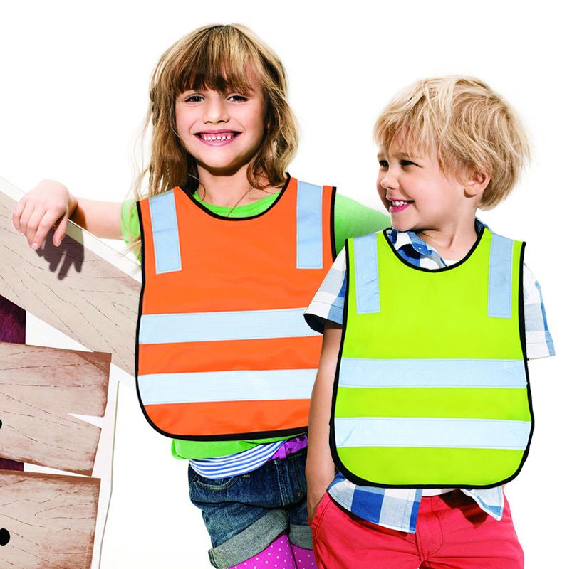 Hot Fashion Polyester Fabric Safety Vest Kids Reflective Safety Vest Student Hi Viz Safety Vest Size Reflective Work Cloth()