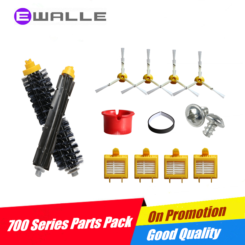 1 Set Debris Extractor Brush &4 Side Brushes & 4 Filter For Irobot 700 Series 760 770 780 790 Vacuum Cleaning Robots(China (Mainland))