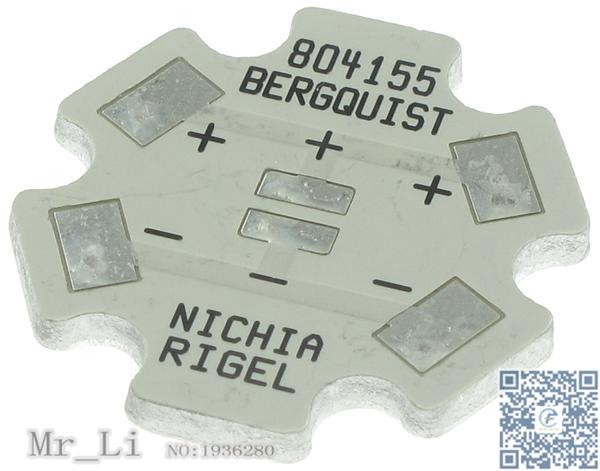 804155 Thermal Substrates - MCPCB 1-UP INDV STAR NICHIA RIGE(Mr_Li)(China (Mainland))