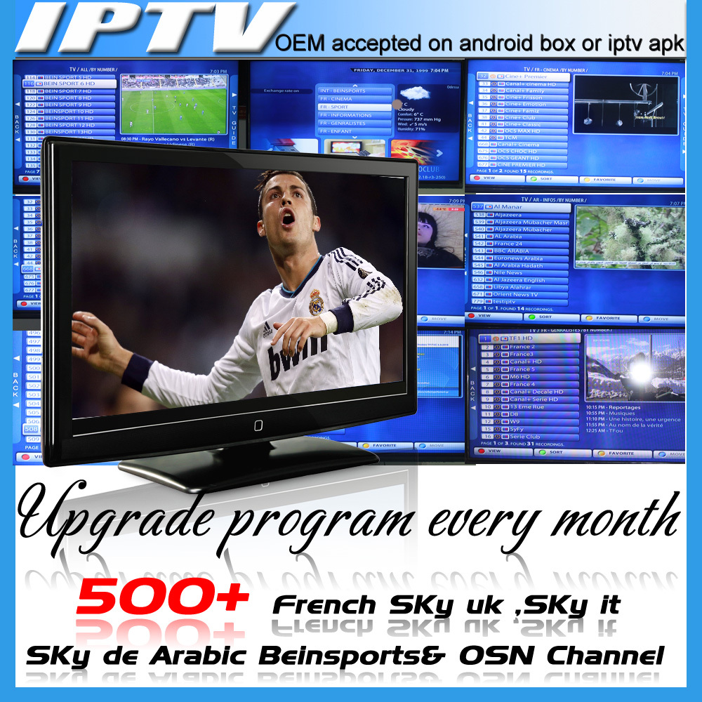 Original Supplier Qhdtv Iptv Streaming Server With 3 Month English IPTV Italian Germany French Bein Sports 680 Channel Iptv Code(China (Mainland))