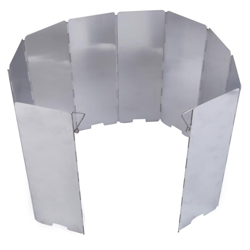 10-plates Foldable Camping Stove Wind Shield Screen Cookout Windbreak Free Shipping<br><br>Aliexpress