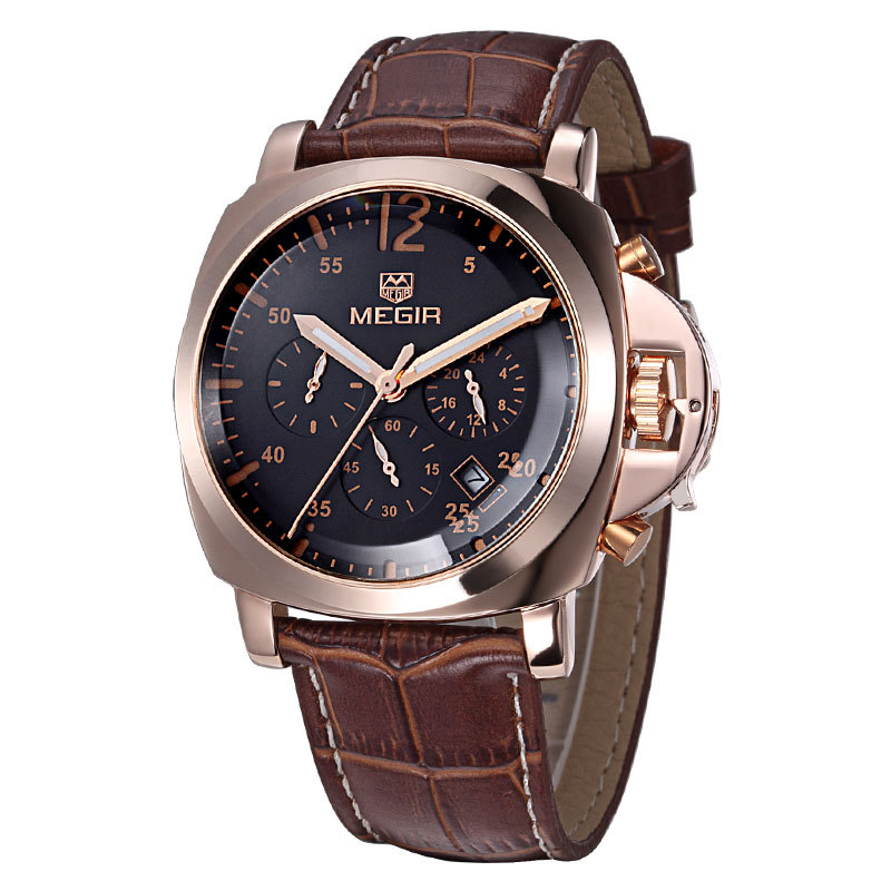 top quality genuine leather watches luxury brand