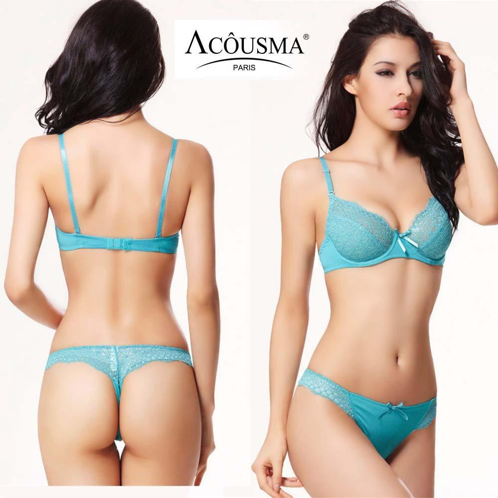 1267bd14514 New brand sexy transparent underwear bra set soutien push up 3 4 C cup thin  bra lace bralette and women plus size thong set 224