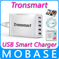Tronsmart USB Smart Charger 5 Ports 40W Portable High Speed Desktop USB Charger with VoltIQ Technology for iPhone/iPad/Samsung