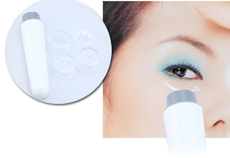 4 head health care Mini Massage Device Pen Type Electric Eye Massager Facials Great Vibration Thin Face Massage Stick