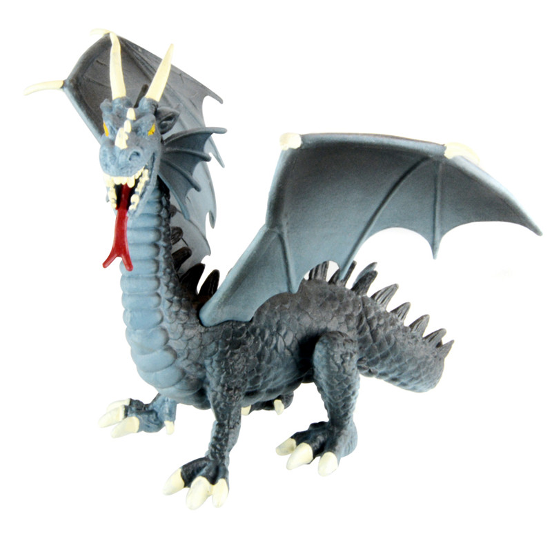 Starz 1/100 Western Fire Dragon Action Figures Plastic Toys PVC Dinosaur Model Boys Gift for Kids(China (Mainland))