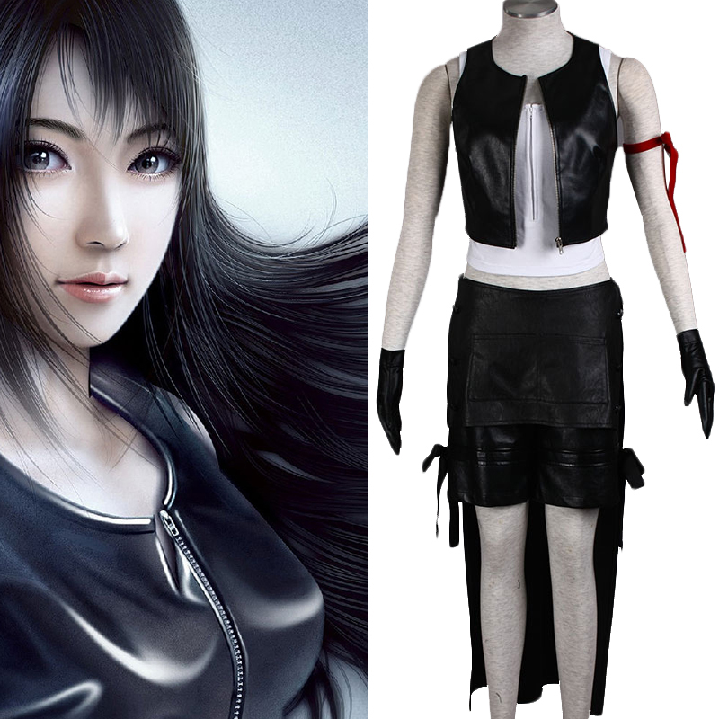 Anime Final Fantasy Cosplay - Final Fantasy VII New 1 Tifa Lockhart Women's Performance 6 Sets Cosplay Costumes Tifa Clothes