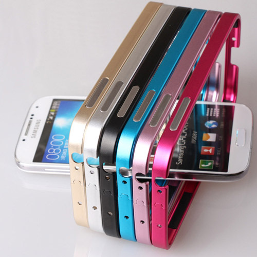 For Samsung S4 Bumper New Metal Aluminum Frame Cover For Samsung Galaxy S4 i9500 Cell Phones Bumper Cheap Sale Accessories fp703(China (Mainland))