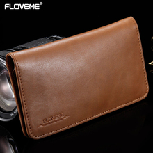 Buy FLOVEME 5.5 Inch Leather Wallet Phone Case iPhone 6 6S 7 Plus Universal Pouch Cover Samsung Galaxy S6 Edge Plus S7 Edge for $8.99 in AliExpress store