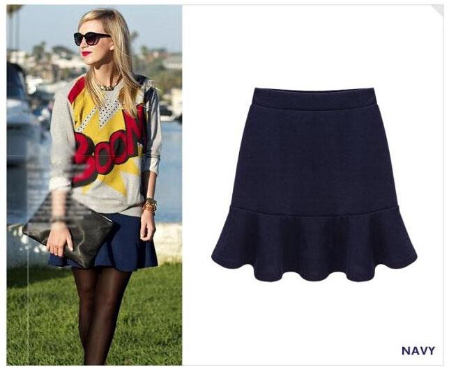 Winter Skirts Women Casual Retro Fishtail Skirt Ladies Black High Waist Package Hip Half-Length Big Yards Free - Shenzhen Robinzon store