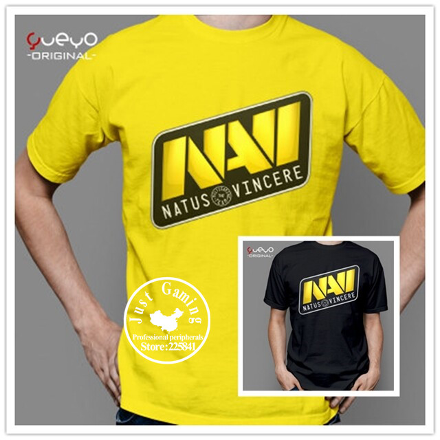 Steelseries NAVI Natus Vincere gaming NAVI t shirt GAME team suit uniform Team tees cotton short sleeve Game Dota2 t-shirt WCST(China (Mainland))