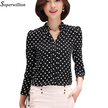 Soperwillton New 2017 Tribal Print Women Blouses Chiffon Large Size Shirts Blusa Women's Clothing blouse shirt Vintage Tops D573(China (Mainland))