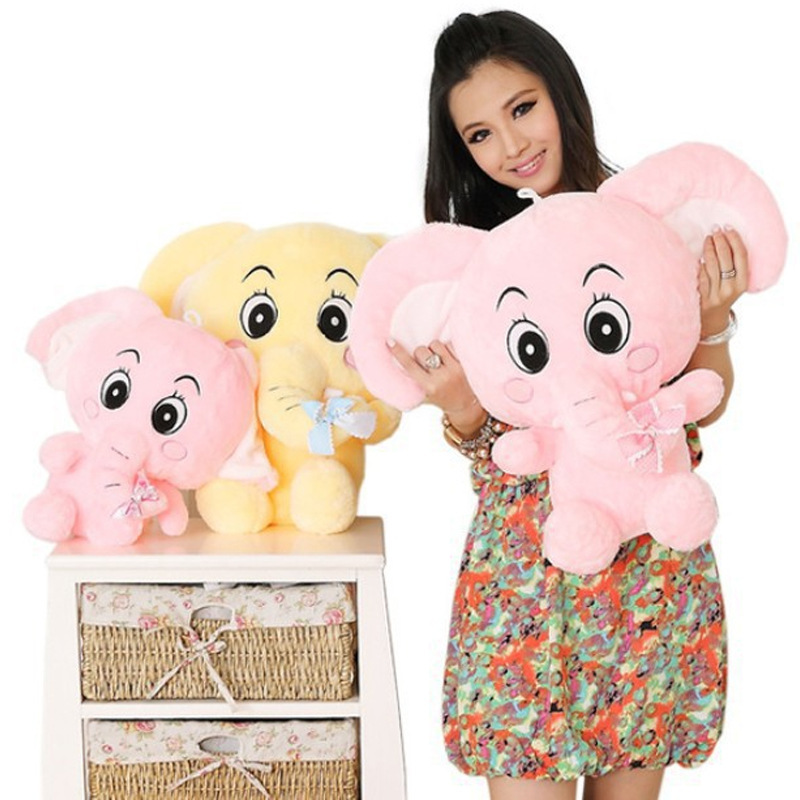 30cm The new factory direct elephant plush toy doll gift recruit agents kids favor toys, cute plush dolls(China (Mainland))