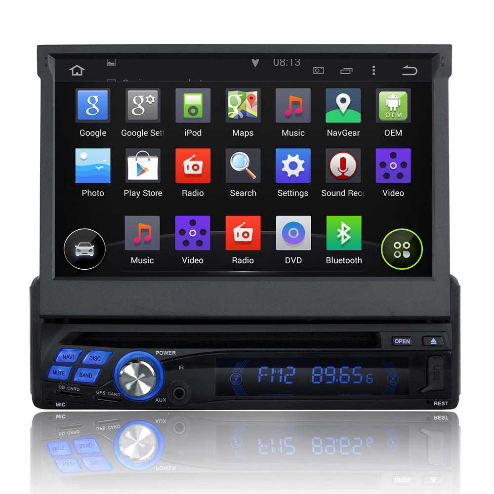 automotivo One 1 Din Universal car dvd player car audio stereo WIFI 3G 7 inch Capacitive screen GPS Radio Bluetooth Ipod(China (Mainland))