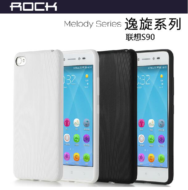 Wholesale/Retail 1pc MOQ Original Rock Brand For Lenovo Sisley S90 phone protective silicon TPU case Back Cover Phone Bag Case(China (Mainland))