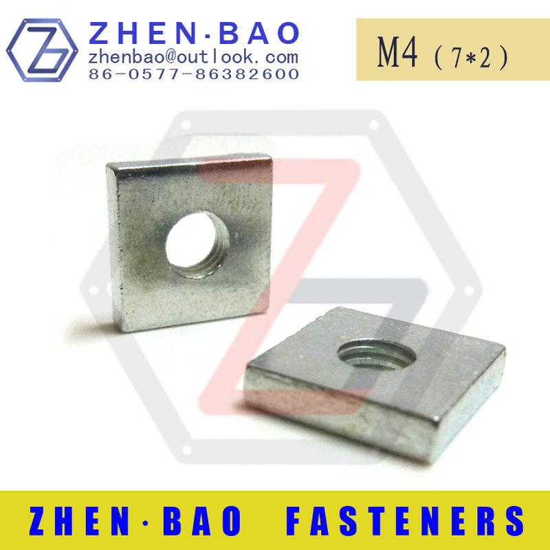 [ m4*7*2 ]  2000pcs DIN562 m4 square nut  white zinc nuts China fasteners ( Manufacturer )<br><br>Aliexpress