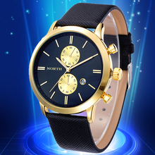 Relojes hombre 2015 NORTH Men Wristwatches Relogio masculino original watch man relogio male militar watch business quartz clock