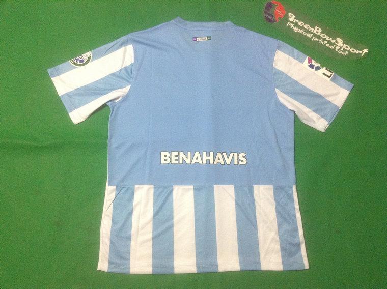 Thai Quality made 2014 2105 Malaga Club de Futebol home football shirt customized soccer Jerseys(China (Mainland))