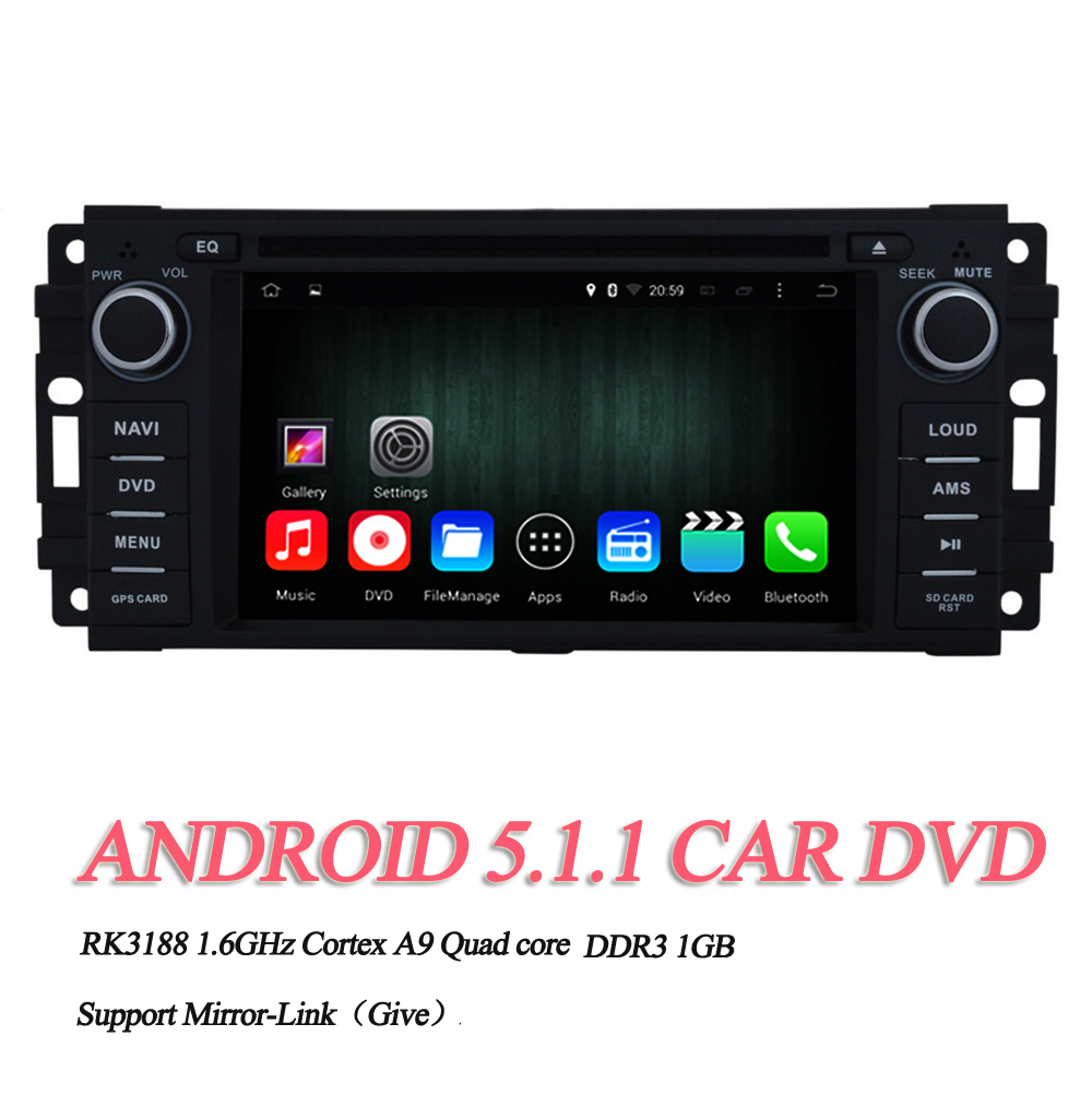 "Android 5.1.1 1din Car DVD For Jeep Wrangler/Unlimited 2007-2013 Quad-Core 6.2"" 800*480 Touch Screen GPS Navigation Stereo Radio(China (Mainland))"
