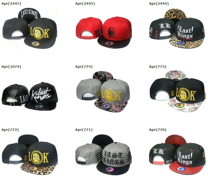 free shipping last kings snapback hats LK snap back caps high tip street fashion cap and snapbacks hat hot sales(China (Mainland))
