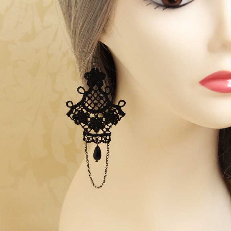 Wholesale Pearl tassel handmade original design vintage drop earring women accessories Gothic jewelry earrings for women EH-35(China (Mainland))