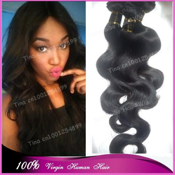 Tangled Free 7A Grade #1b virgin body wave hair natural looking mongolian hair weave for women free shipping<br><br>Aliexpress