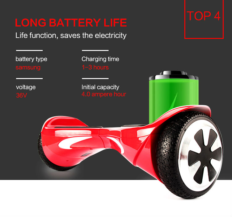 Two wheels Bicycle with Remote Key Self balancing Electric Scooter Mini Smart Balance 4400mah Electric Skateboard