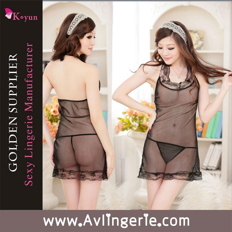 Summer style sexy lace dress Transparency sexy women nightwear KLB0-012(China (Mainland))