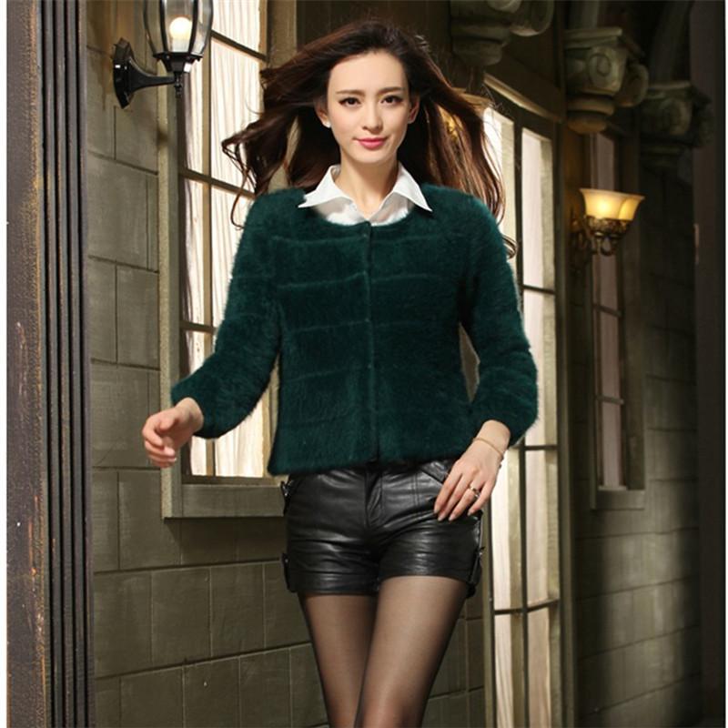 2014 kojah cashmere sweater short design thickening sweater outerwear women's mink sweater cardigan overcoat