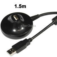 Free Shipping USB 2.0 AM TO AF Extention Cable with Base, Length: 1.5m(China (Mainland))
