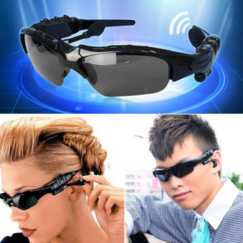 Hot NEW Wireless Headphones Bluetooth 4.1 Stereo Sunglasses Sports Music Driving Sun Riding Glasses Headset Earphone(China (Mainland))