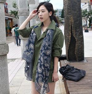 2016 новые ретро-синий и белый вуаль шарфы кешью новых женских корейской зимой шарф мягкий большой размер 180 * 90 см