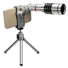 Buy Universal 18X Zoom Phone Optical Camera Telephoto Lens Telescope Cliip Mount Tripod iPhone Samsung Smartphone Lens for $24.99 in AliExpress store