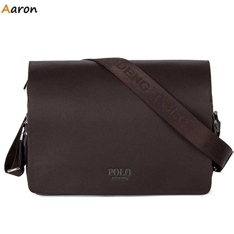 Aaron - Horizontal Large Size Leather Man Bag, Italian Famous Brand Design Casual Business Men's Crossbody Bag Mens Messenge Bag(China (Mainland))
